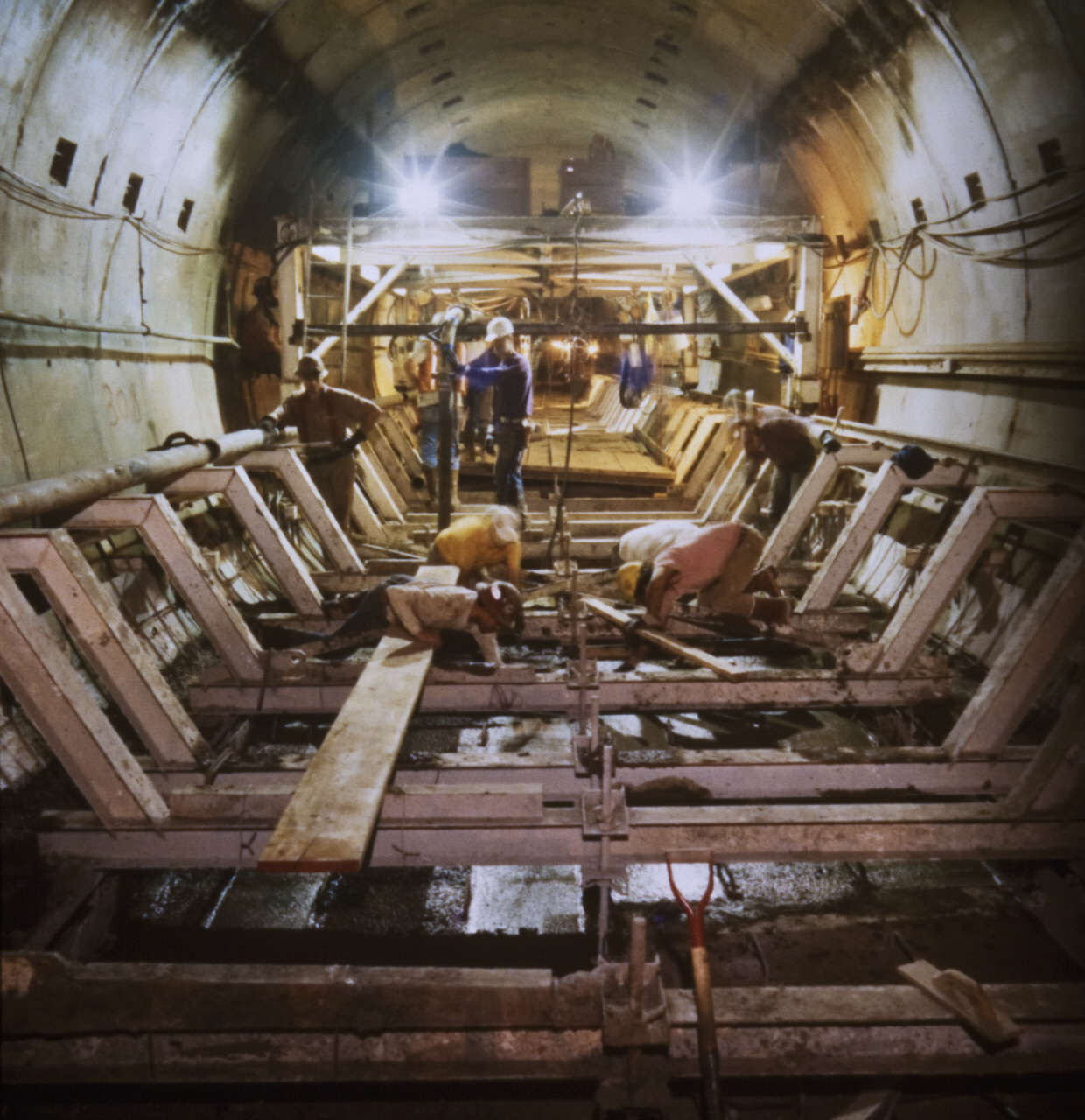 Construction of the Red Line in the mid-1990s. Photo: Metro Transportation Library's Flickr stream.