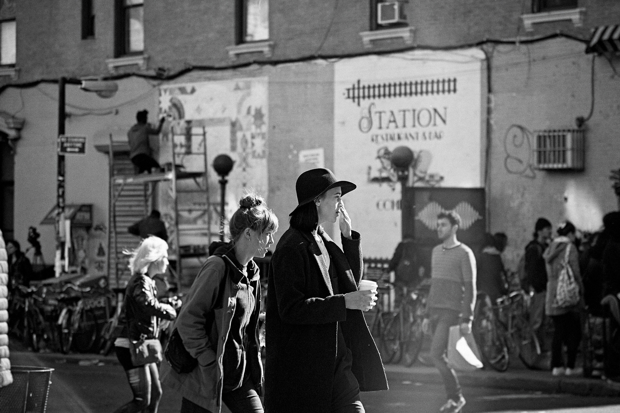 Hipsters in Bed-Stuy. Photo by Yun-Ying Wu, via Flickr creative commons.