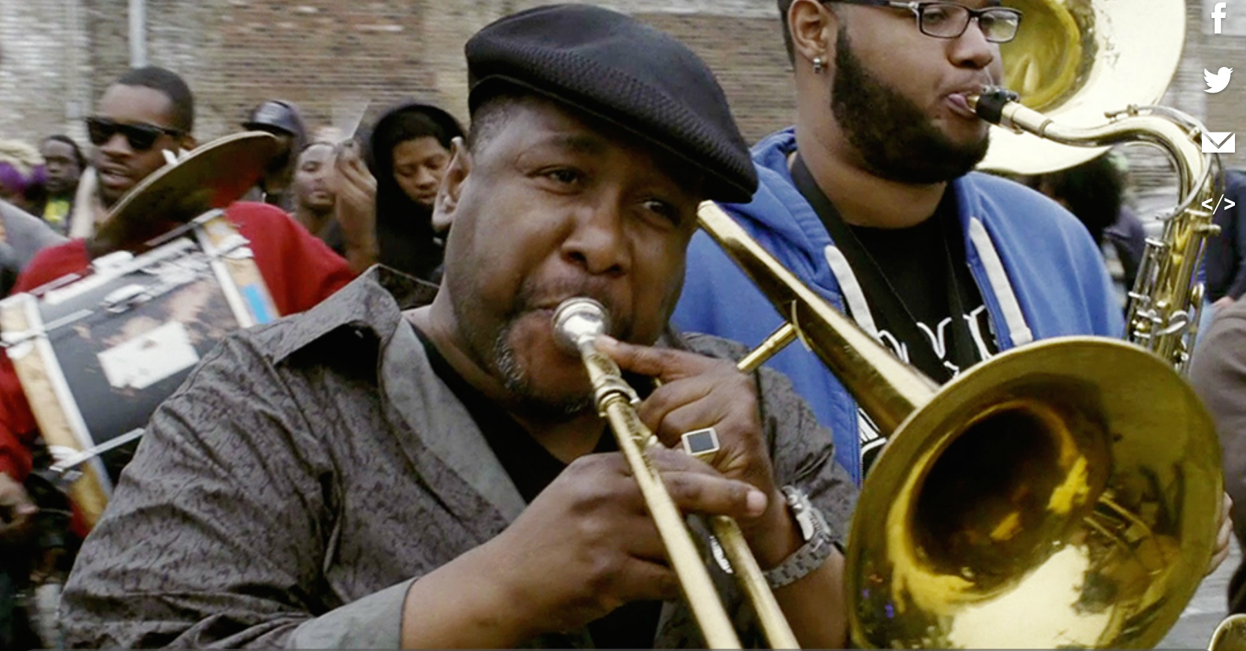 "Wendell Pierce in ""Treme."" Photo: HBO."