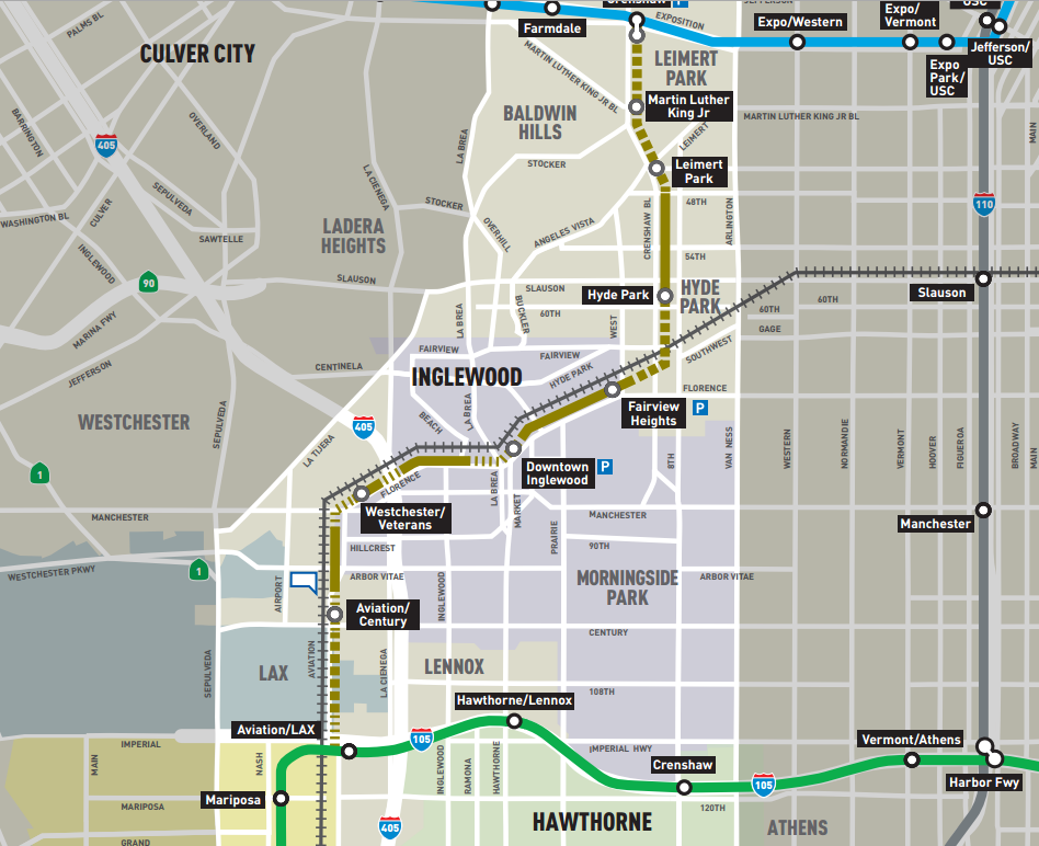 crenshaw line map