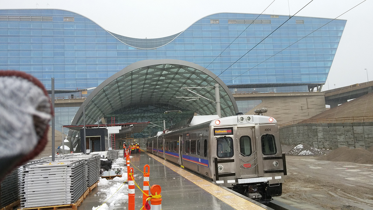 A test train at Denver International Airport earlier this year. Photo: RTD.