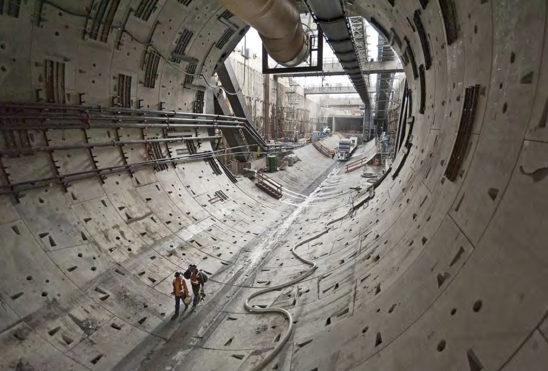 Work will soon resume on the tunnel in DTSEA. Photo: Washington Department of Transportation.