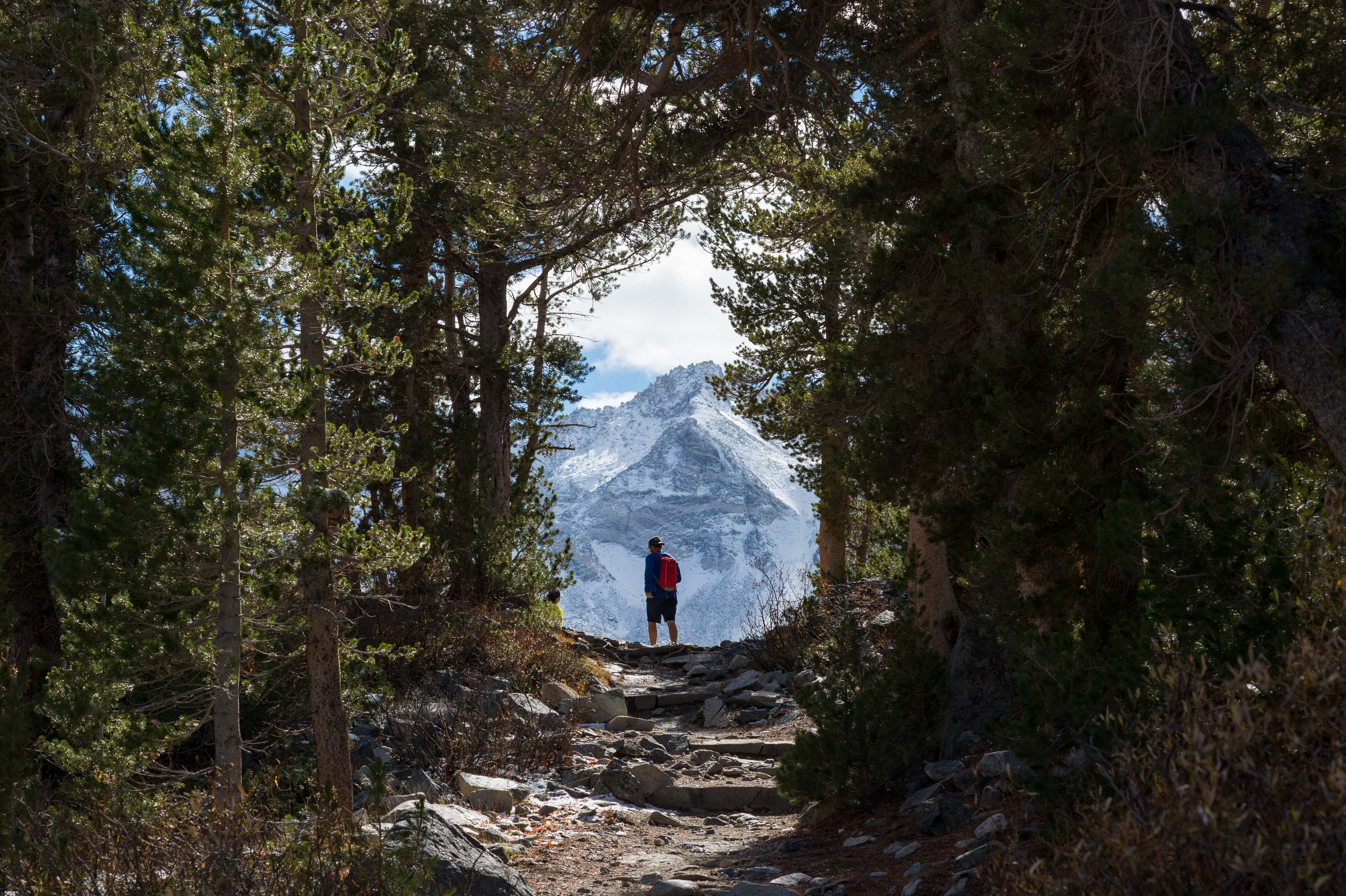 A hiker in the Little Lakes Valley in the Eastern Sierra. Photo by Steve Hymon.