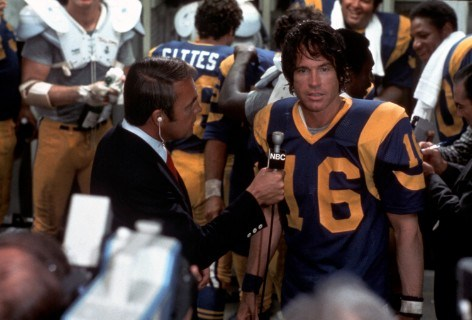 Pendleton in disbelief that he survived (literally) beating the Steelers. Credit: Paramount Pictures.