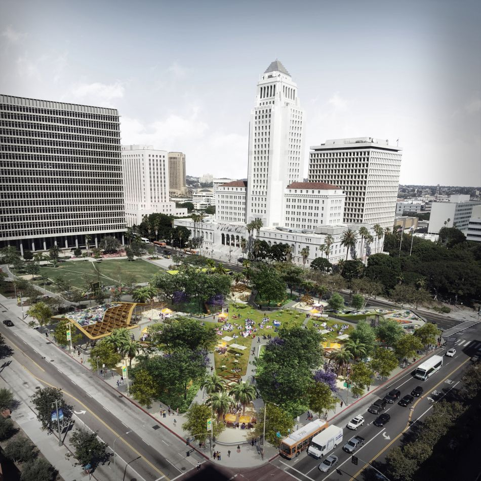 One of the renderings from AECOM. Urbanize LA has a ton of renderings with their story.