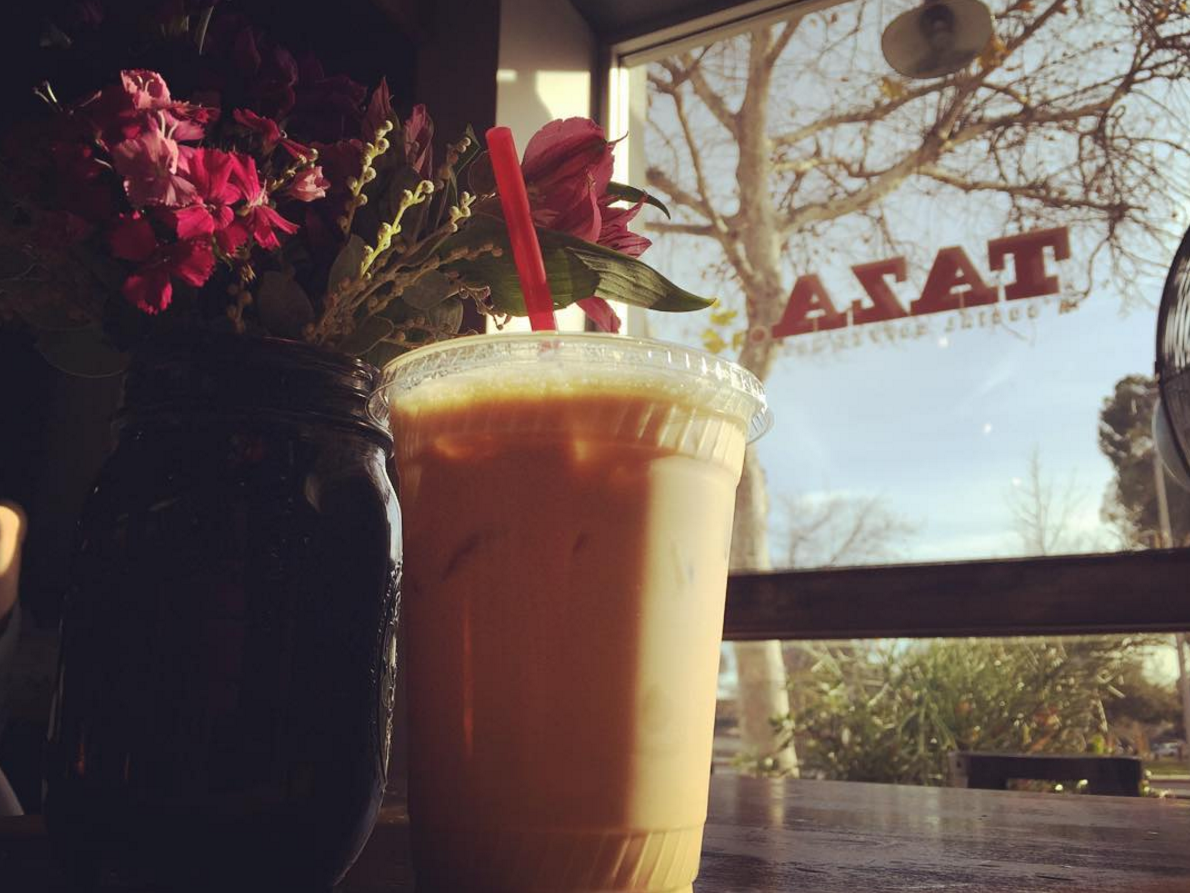 The Arcadia iced latte.