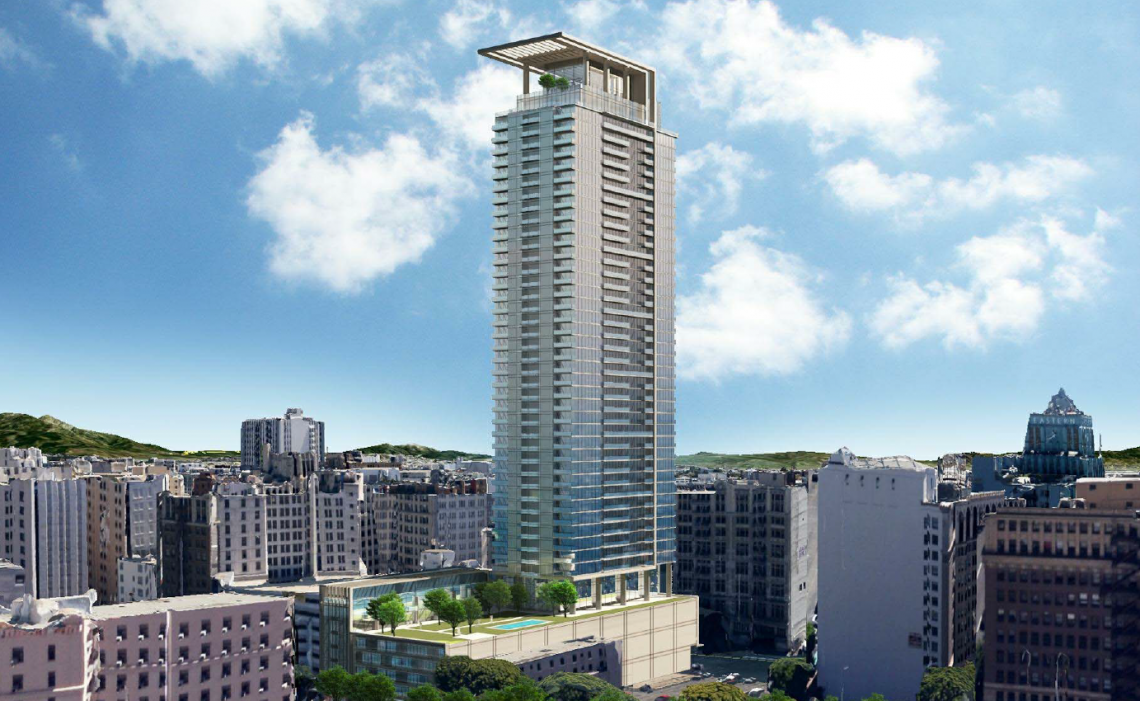 A 50-story development planned for South Park in DTLA. Credit: via Urbanize LA.