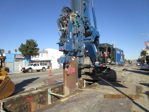 Installing piles between 63rd and 67th.