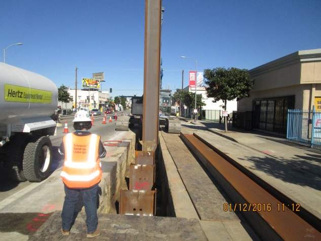 Work on installing piles for the underground segment between 63rd and 67th streets.
