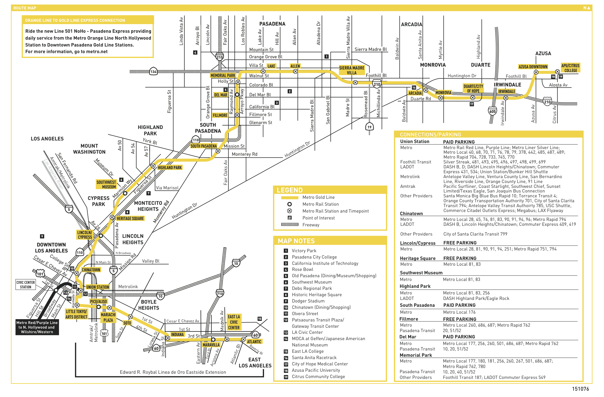 final update: gold line service restored between allen and arcadia