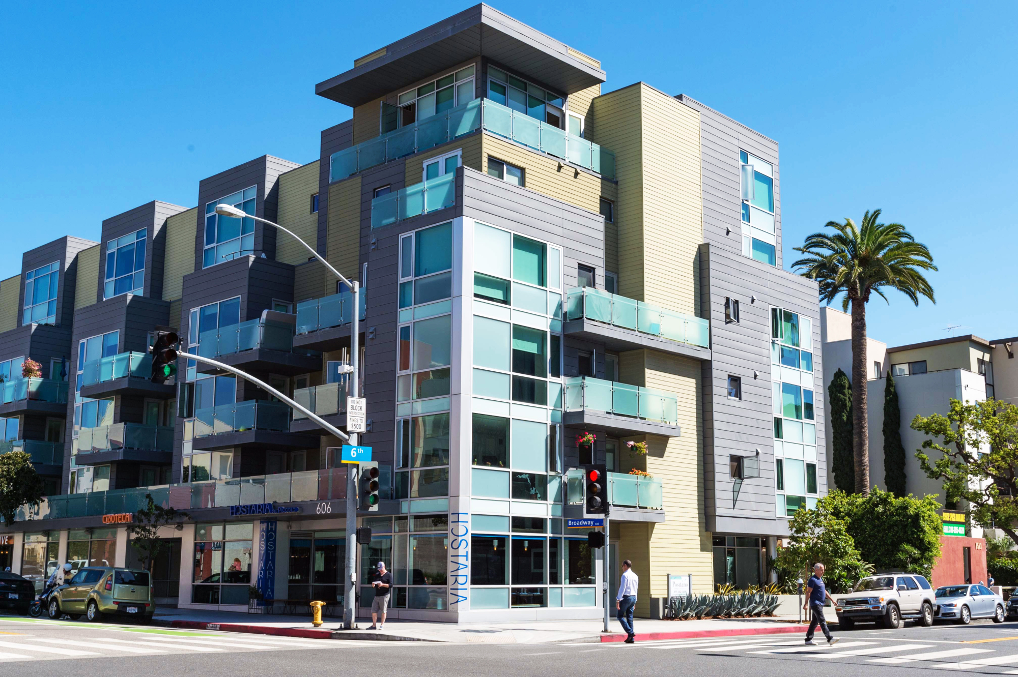 One of the new residential buildings in downtown Santa Monica. Photo by Steve Hymon//Metro.