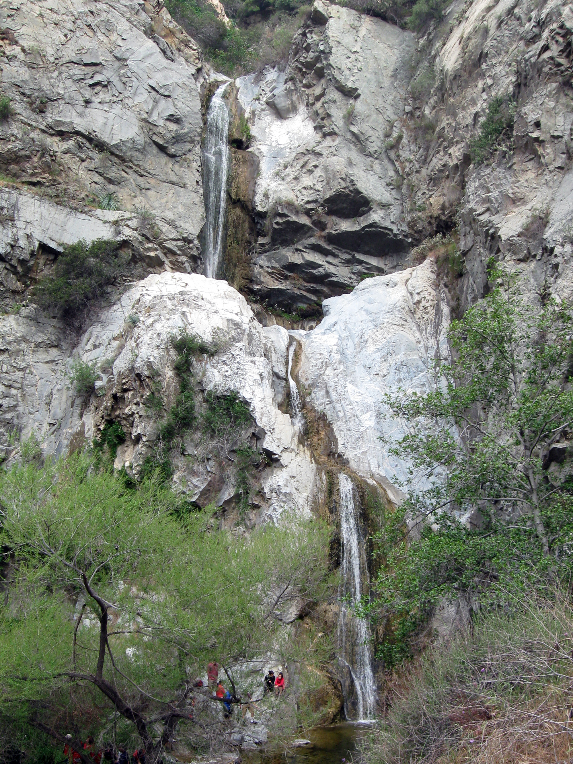 Fish Canyon Falls above Duarte. Photo by Mitch Barrie, via Flickr creative commons.