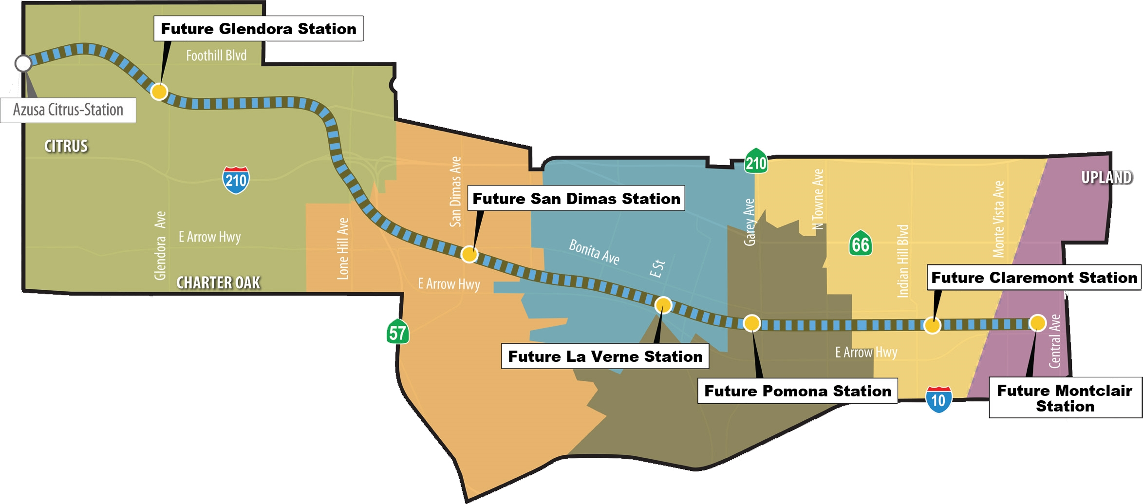 Measure M Gold Line Extension To Claremont The Source - Los angeles metro expansion map