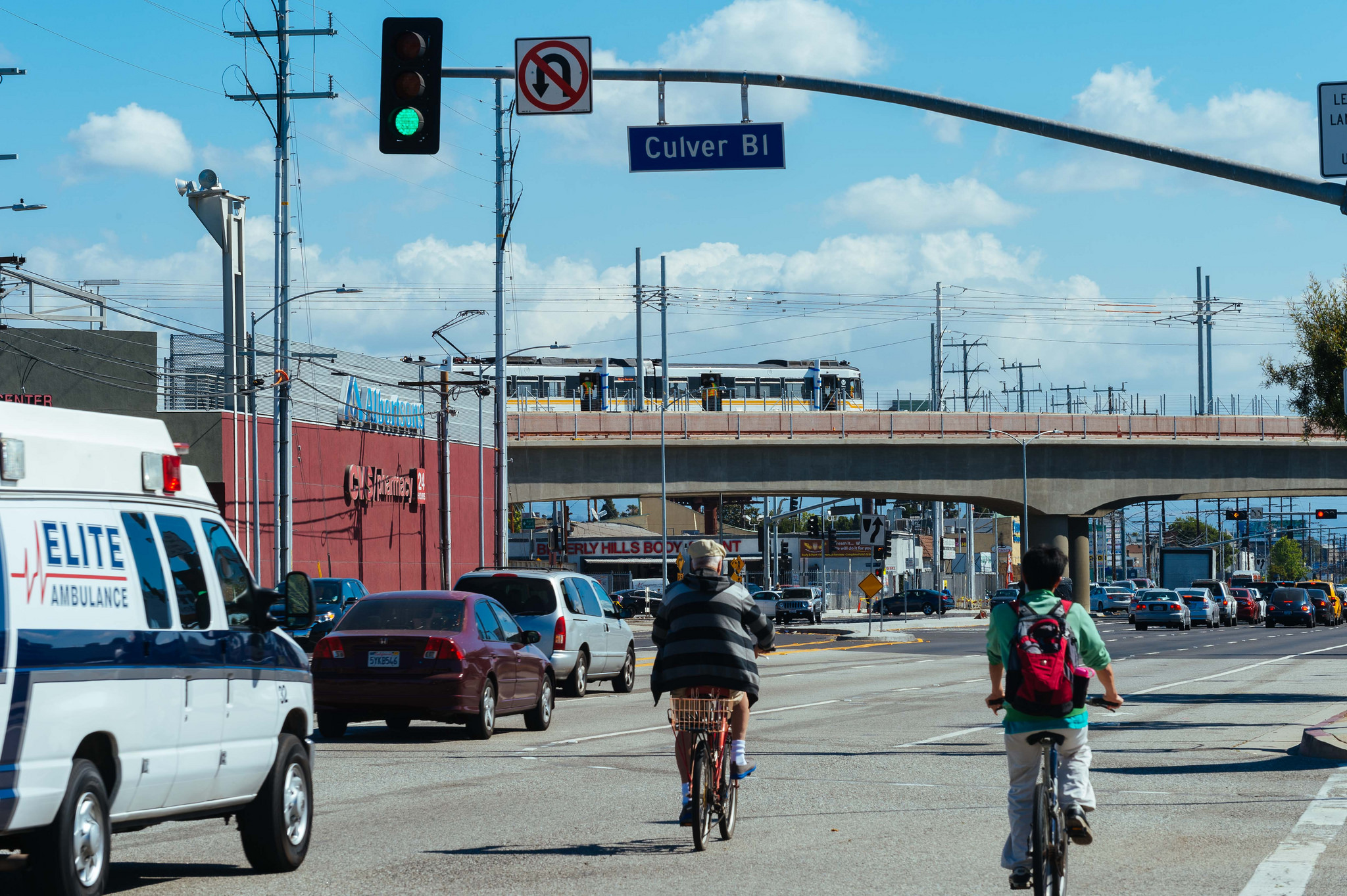 The bridge over Venice Boulevard unfamiliar to David Ulin. Photo by Steve Hymon/Metro.