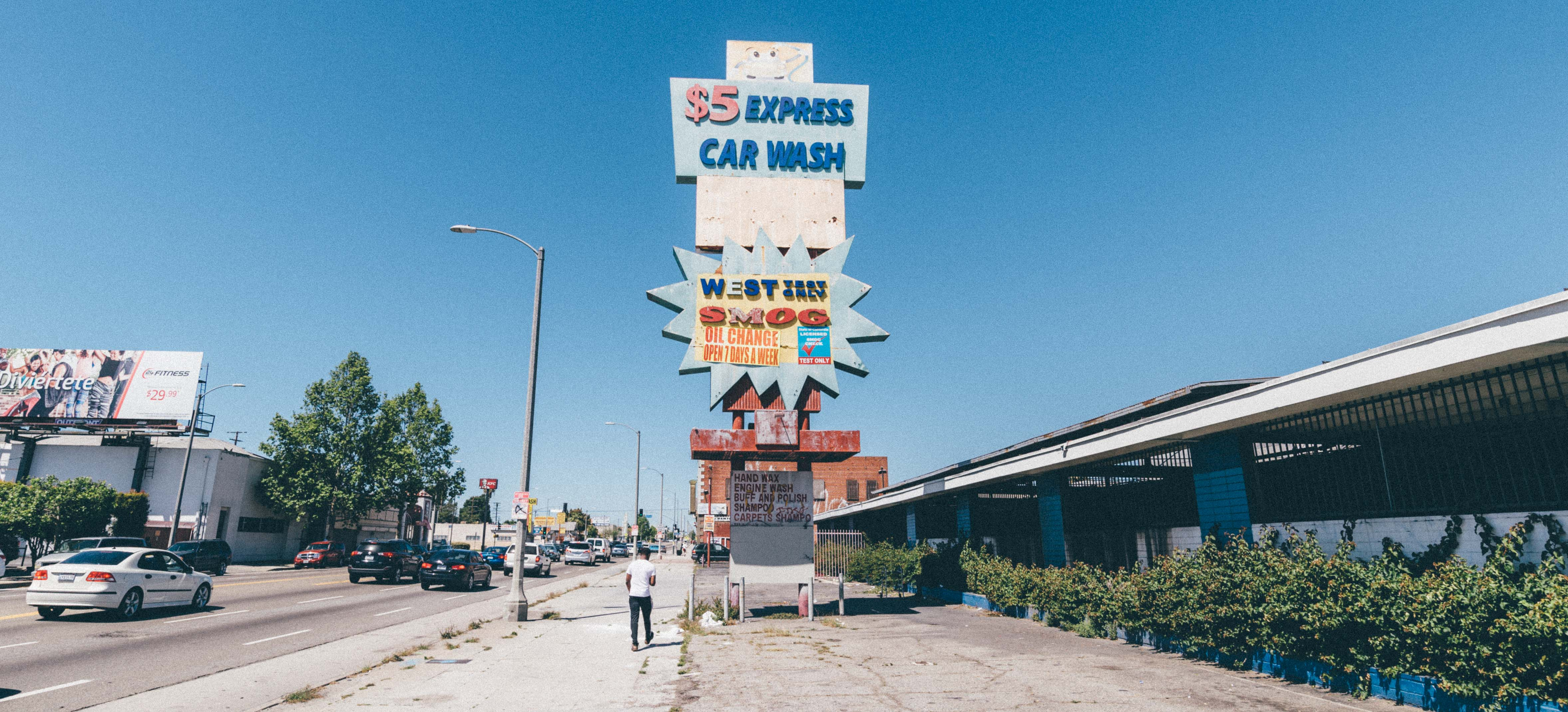 You don't see too many closed car washes in L.A. This one is on Manchester Boulevard in South L.A. Photo by Steve Hymon.