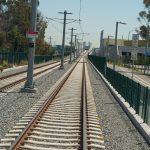 Headed east toward Culver City Station.