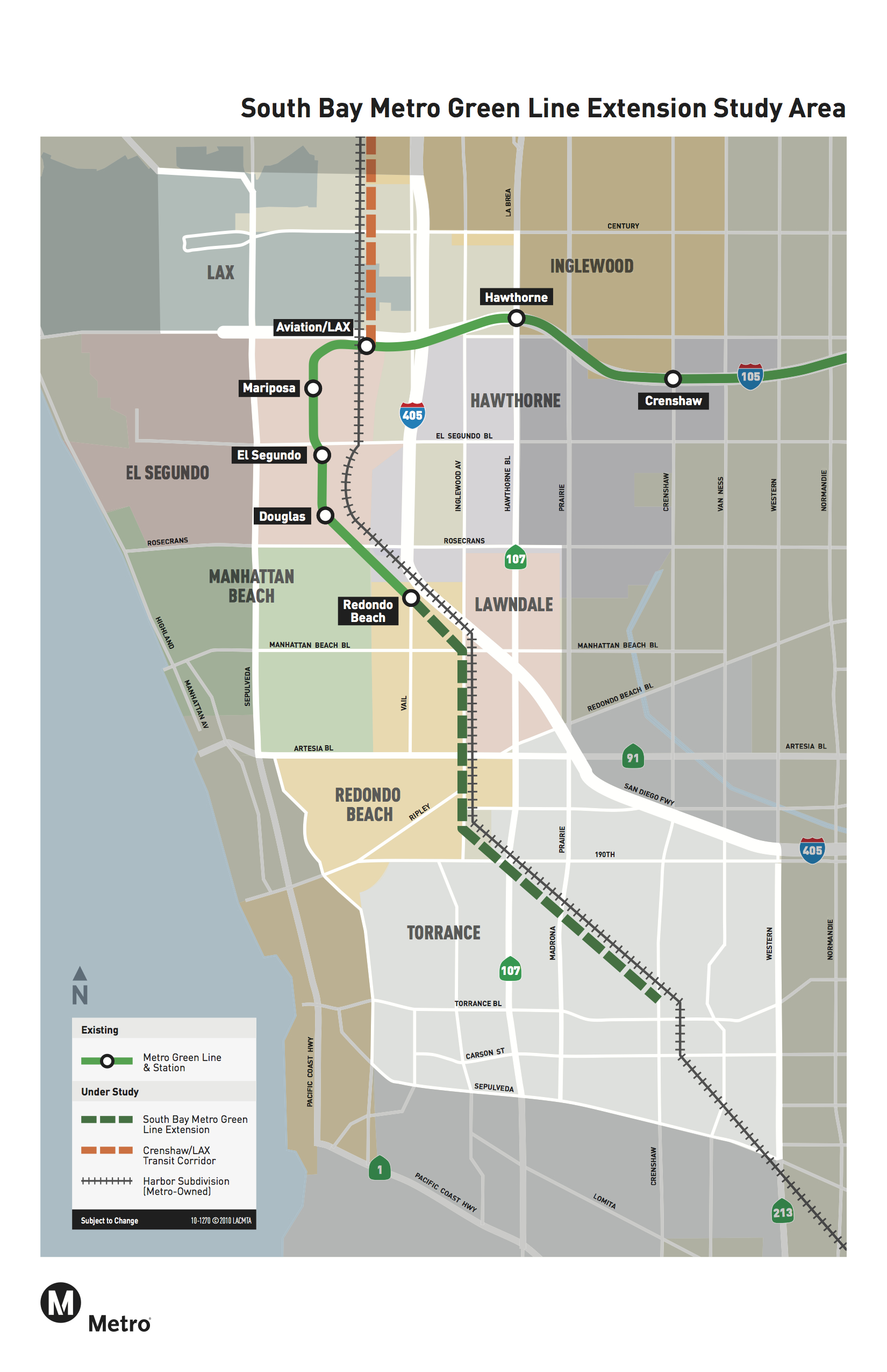 Measure M Green Line Extension To Torrance The Source - Los angeles metro expansion map