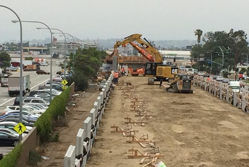 Mse Wall Construction : Mse wall l r…north of imperial highway subgrade