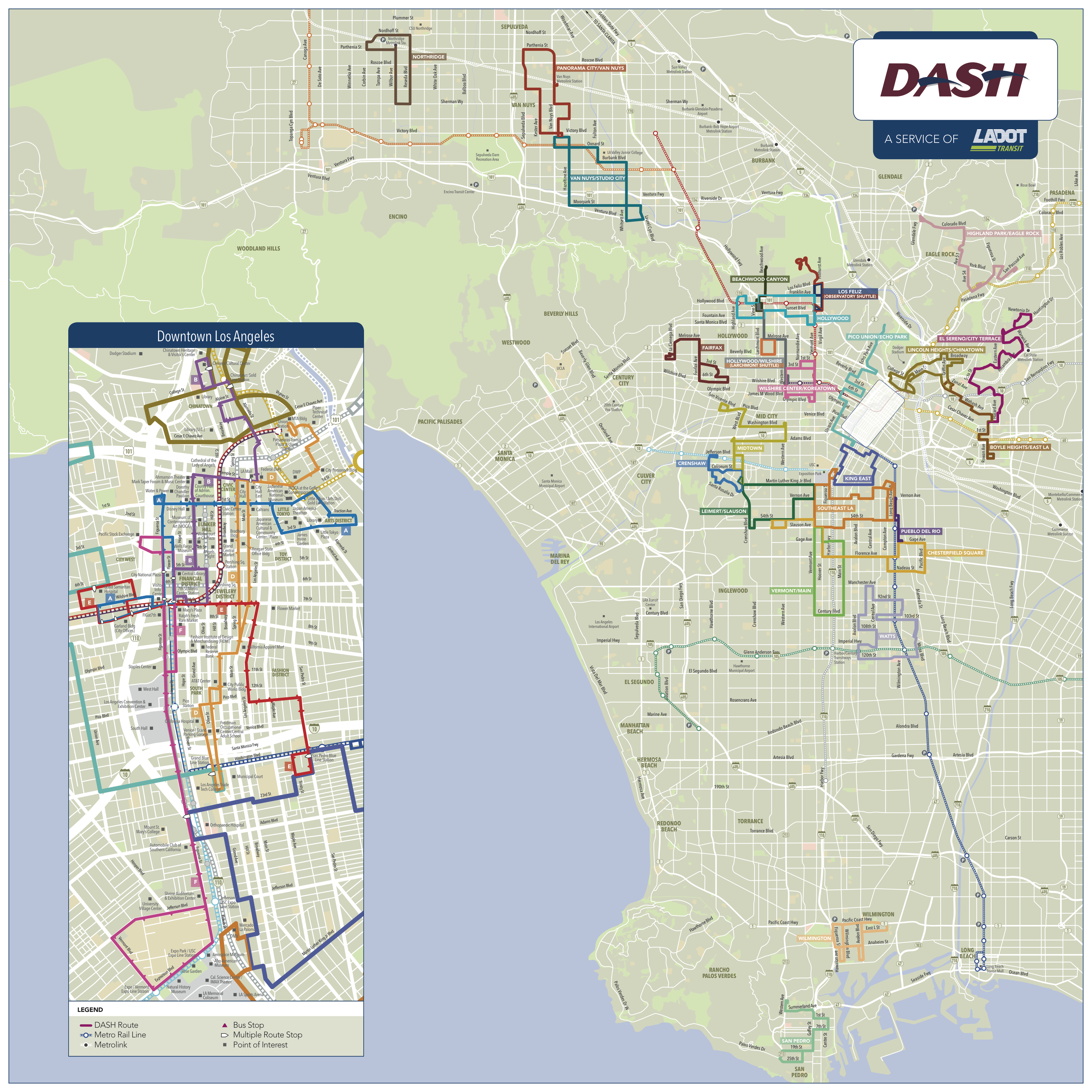Dash Map Los Angeles  Indiana Map