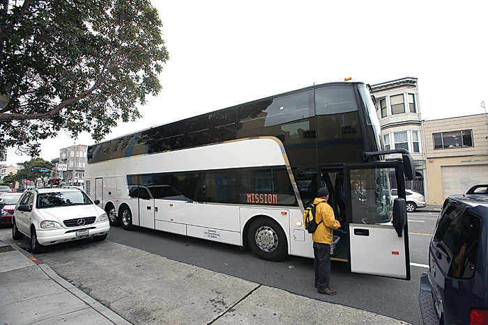 A Google Bus in San Francisco bound for Mountain View. Photo: San Francisco Examiner.