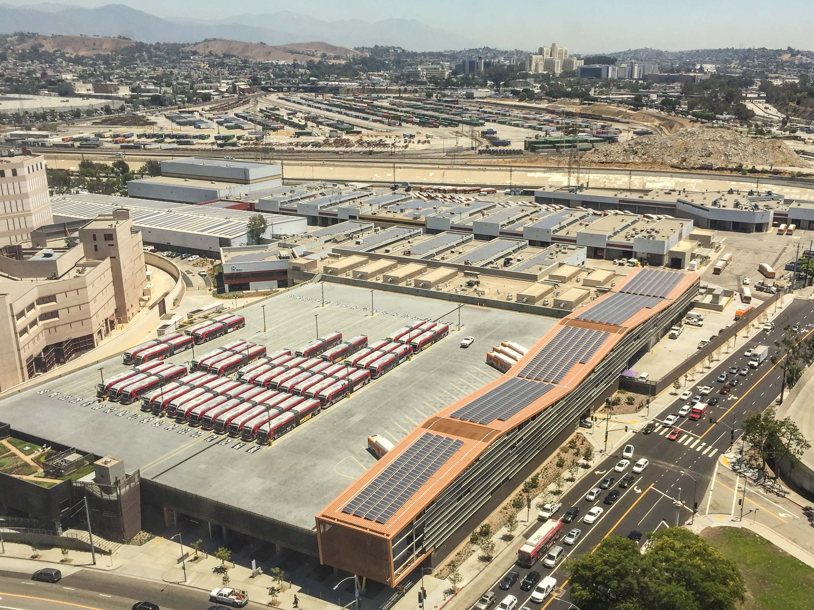 Metro also has solar panels on its own facilities -- including Division 13 in DTLA. Photo: Metro.