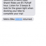 bike share text