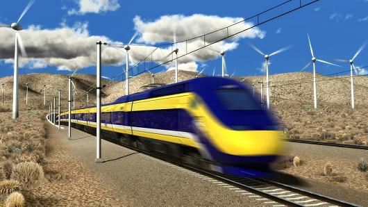 Reducing greenhouse gases and raising $s through cap-and-trade is vital to the state's bullet train program. Credit: California High-Speed Rail Authority.