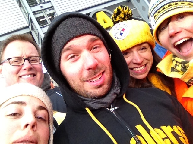 Steelers fans and future self-driving car test subjects. Sometimes there is justice in life. Photo by Jen Robinson, via Flickr creative commons.