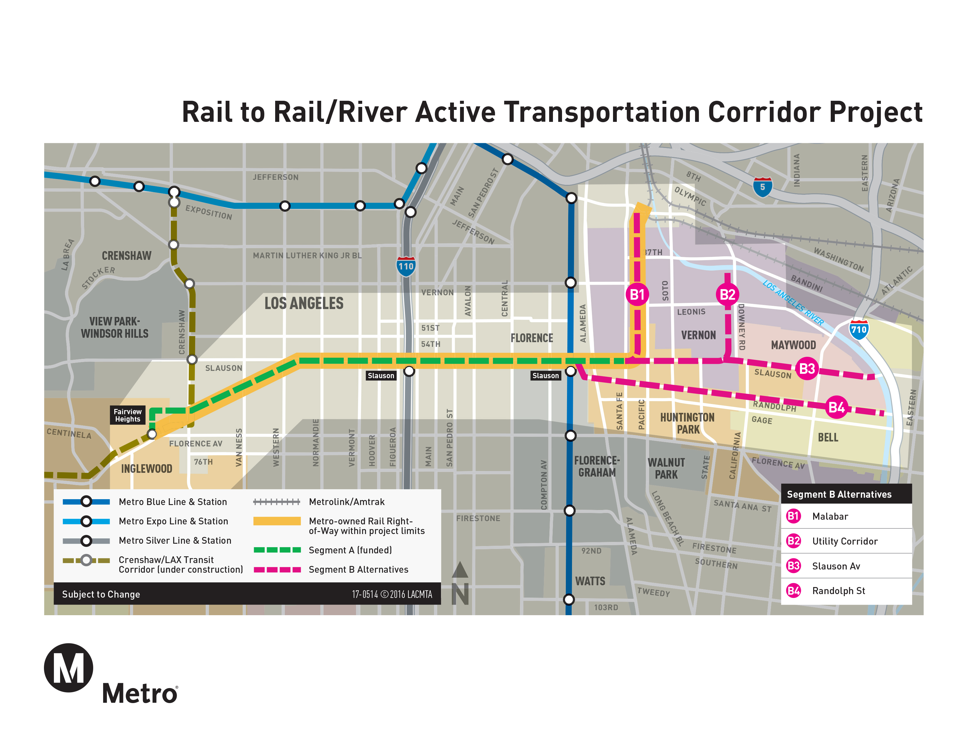 Six Things To Know About Metros RailtoRailRiver Project The - Los angeles metro map 2016