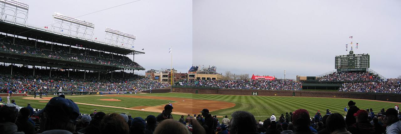 The Cubs were not meant to play in the evenings. World Series games are at night. They must be stopped. Photo: Wikipedia.
