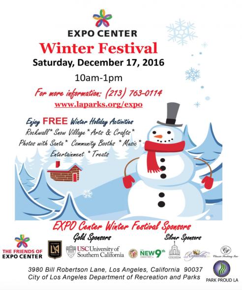 winter festival expo flyer