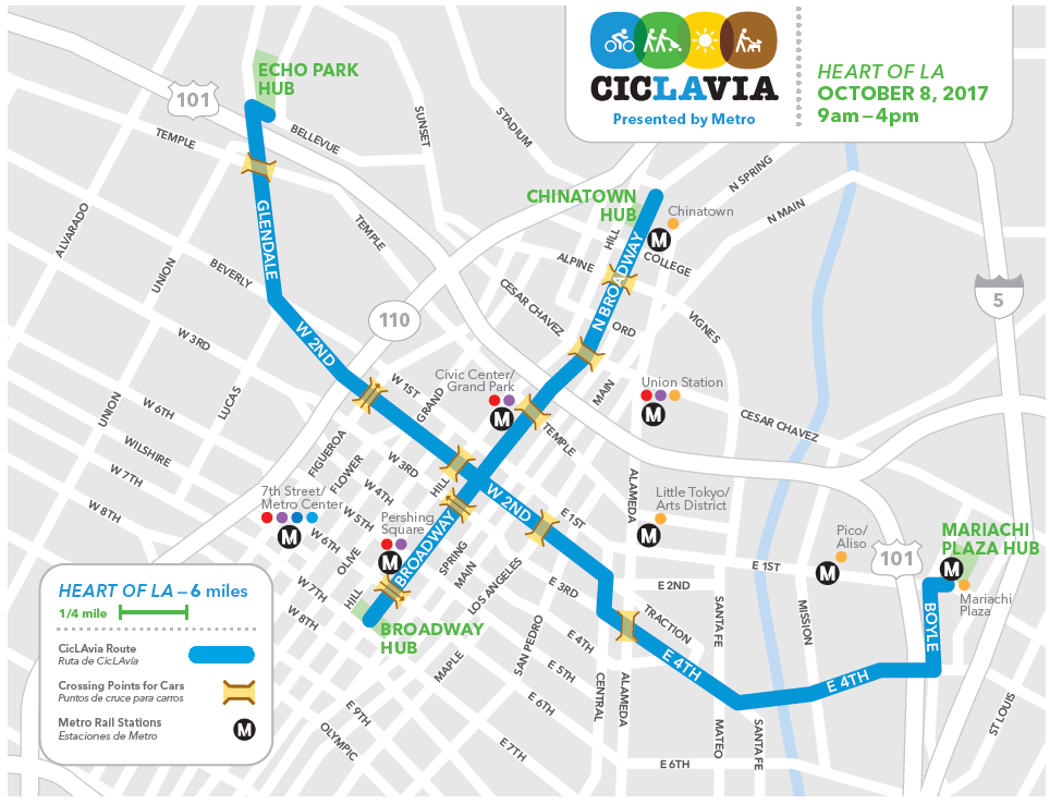 Go Metro to CicLAvia: of LA this Sunday - The Source on