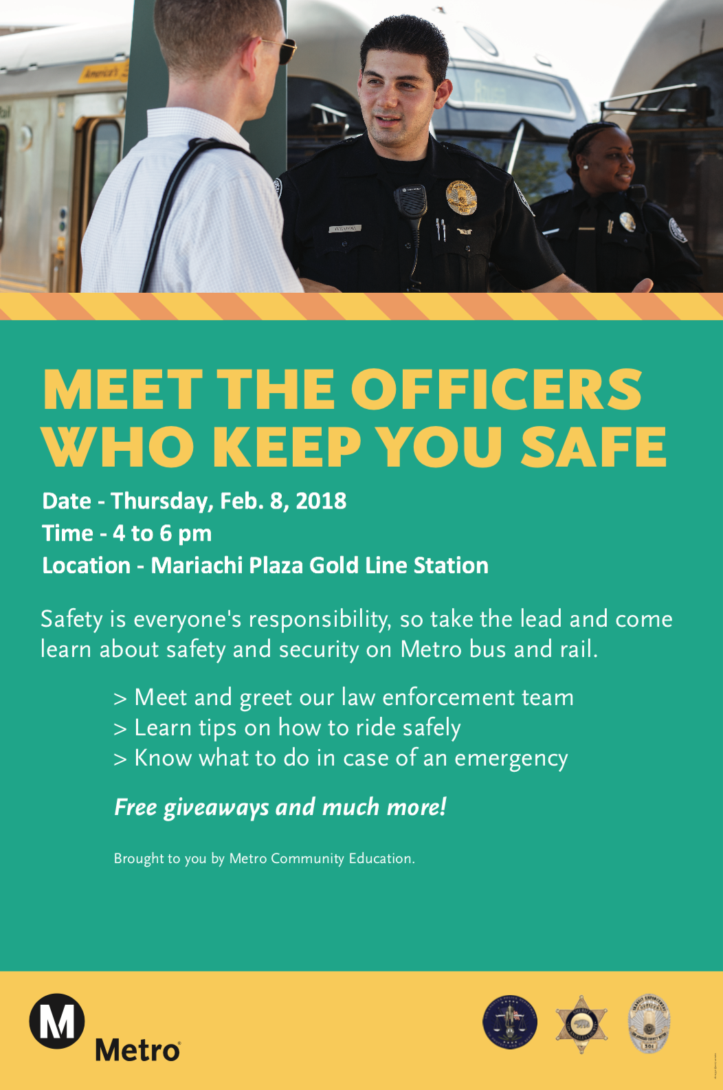Metro To Host Law Enforcement Meet And Greet At Mariachi Plaza On