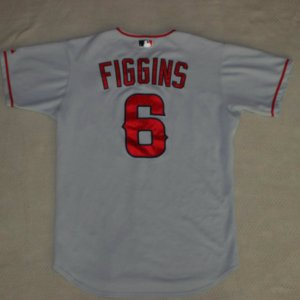 figgins game used angels jersey
