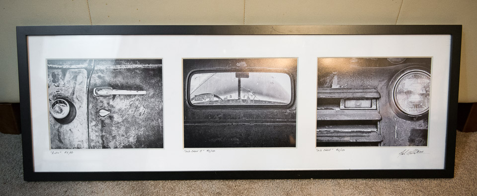 """Old Chevy"" Triptich - Framed Fine Art"