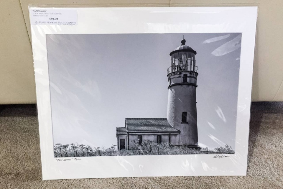 """Cape Blanco"" - Matted 12"" x 18"" Print (matted to 16"" x 20"")"