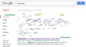 zerg rush buscador google