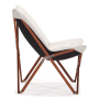 Draper chair - white - side view