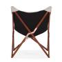 Draper chair - white - back view