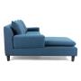 Axioma cowboy blue sofa side view