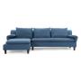 Axioma sofa cowboy blue front view