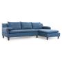 Axioma cowboy blue sofa flat arms