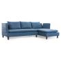 mirens Axioma cowboy blue sofa left chaise arms up