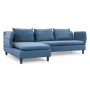 Axioma - A 3-seater sofa in cowboy blue arms up