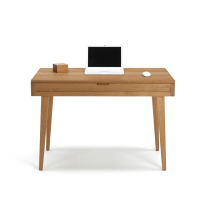 mirens - Solid Wood 44 Desk with Wood Legs