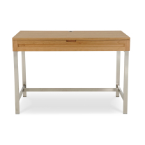 mirens - Solid Wood 44 Desk with Steel Base