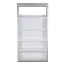 mirens - White Lacquer Bookcase