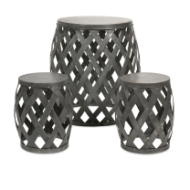 mirens - Kenwood Braided Table and Stools - Set of 3
