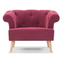 mirens - Chair, Sara Red, Oak Legs