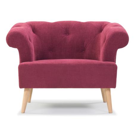Chair, Sara Red, Oak Legs